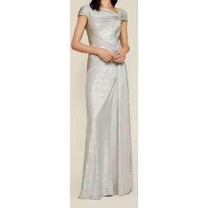 Tadashi Shoji  Parma Draped sequin gown dress